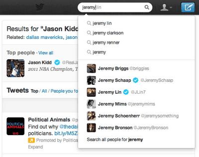 Twitter améliore les recherches