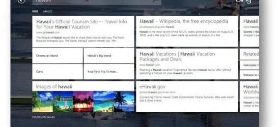 Bing rattrape Google grâce à son application pour Windows 8