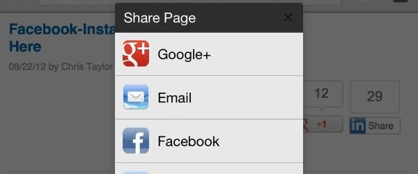 Chrome pour iOS vous laisse partager vos pages sur Facebook