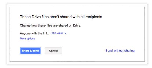 Google Drive s'intègre à Gmail pour envoyer des fichiers de 10 GB