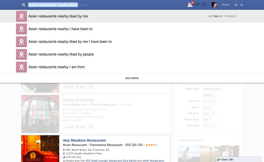 """Facebook dévoile """"Graph Search"""", un moteur de recherche social"""