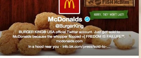 Le compte Twitter de Burger King piraté : une bonne pub ?