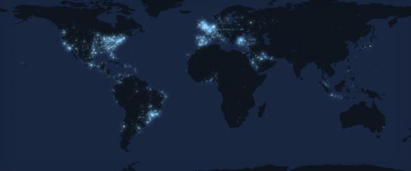Twitter : son activité en direct sur la carte du monde