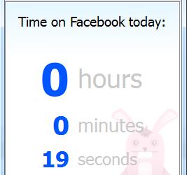 Mesurez le temps que vous passez sur Facebook avec TimeRabbit