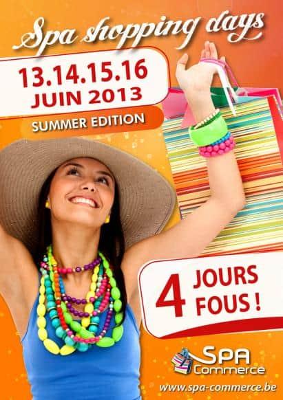 """Les """"Spa Shopping Days"""" du 13 au 16 juin"""