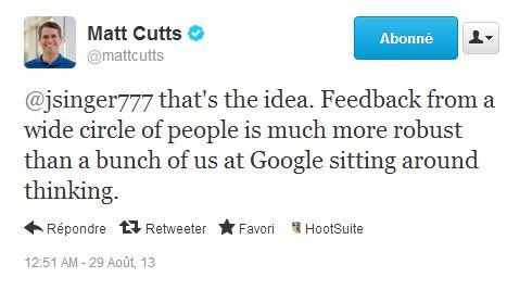 Pourquoi Google veut connaître les petits sites pas bien classés ?