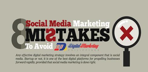 Infographie: Les 8 erreurs à ne pas commettre sur les réseau sociaux
