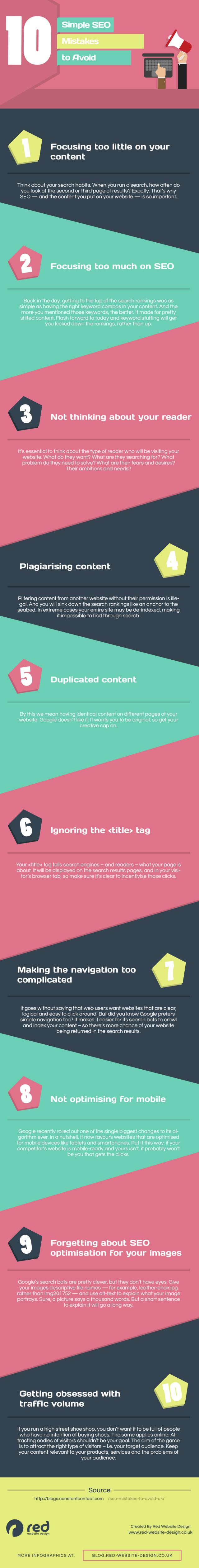 10 pratiques SEO à éviter