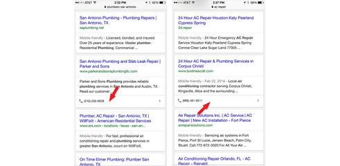 Google affiche des numéros de téléphone dans ses résultats naturels