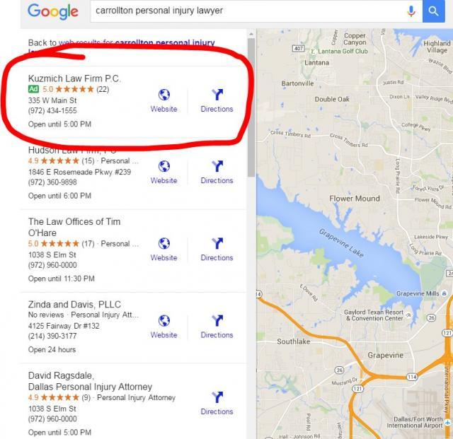 9a760a0e3215 Exemple de test pour les pubs dans les résultats de recherche locale
