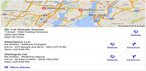Google : les publicités Adwords débarquent dans le Local Pack