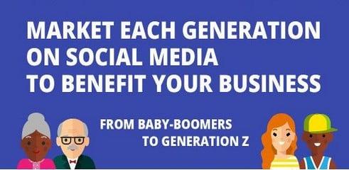 Réseaux sociaux et générations: infographie