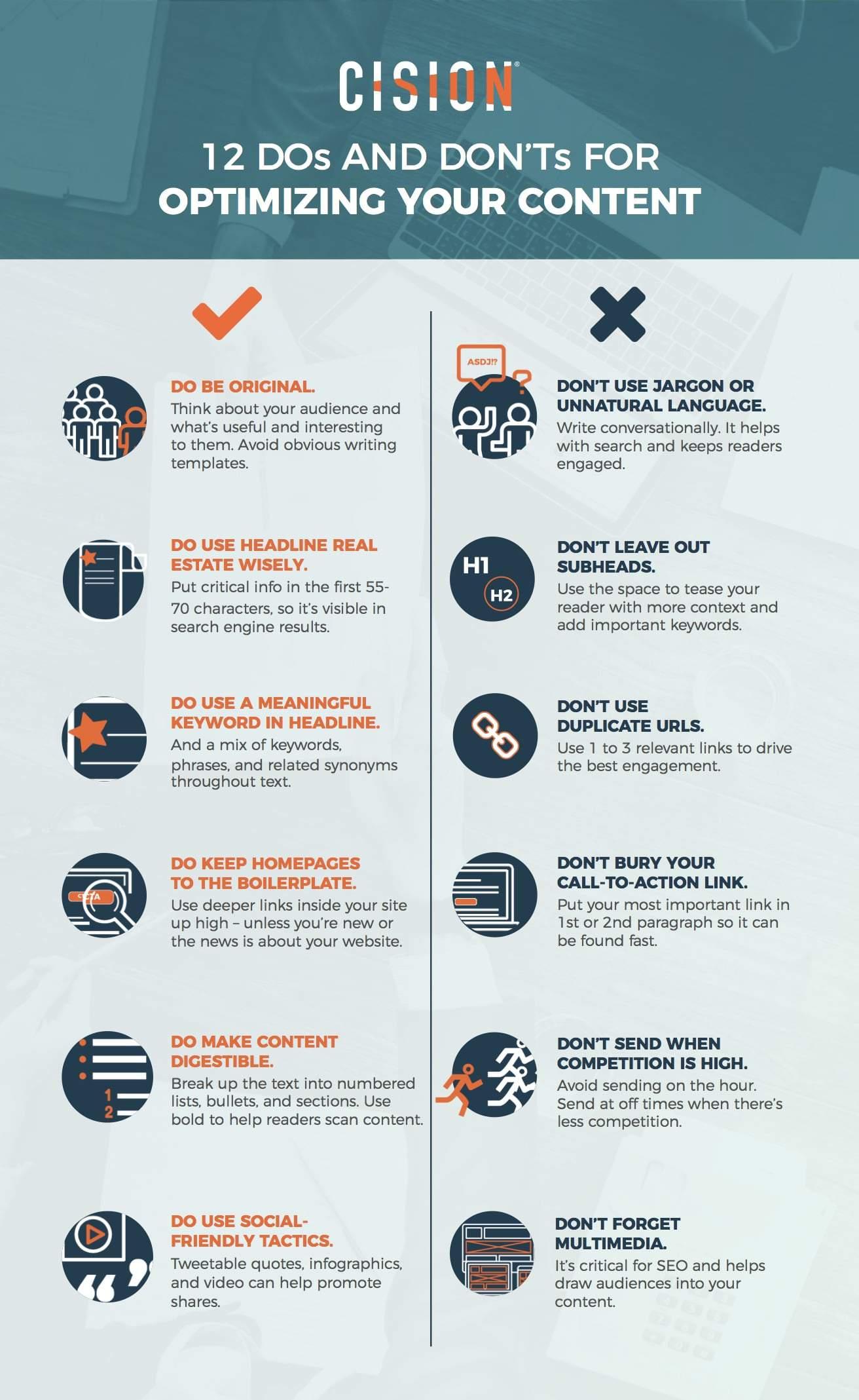 Infographie: 12 conseils pour optimiser vos contenus