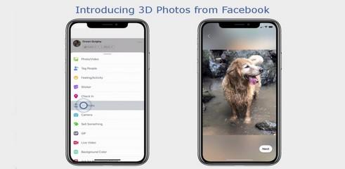 Facebook lance les photos trois dimensions