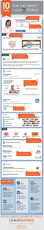 infographie   10 conseils pour un profil parfait sur linkedin