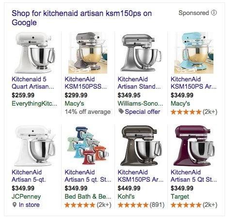 google-teste-pla-comparaison-kitchenaid