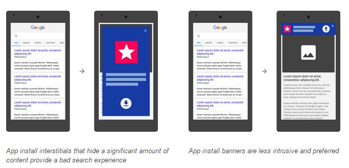 google-interstitiels-application