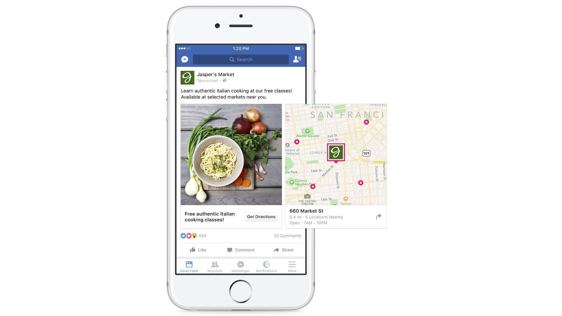 Facebook introduit des cartes dans ses publicités