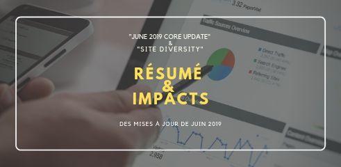 June 2019 Core Update de Google: et Site Diversity résumé et impacts des mises à jour de juin 2019