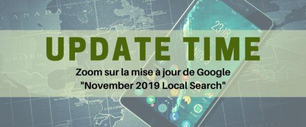 Mise à jour Google Novembre 2019 - Referenceur