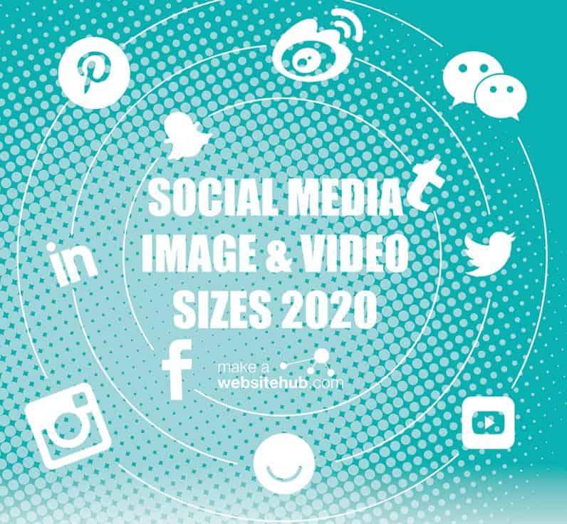 Dimensions des images sur les réseaux sociaux pour 2020